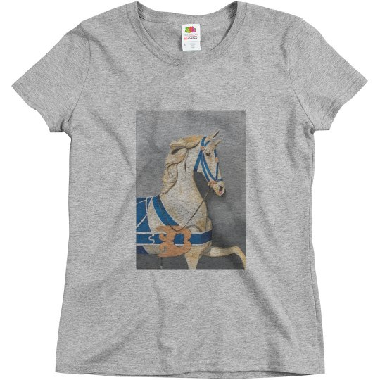 Horse in blue (t-shirt)
