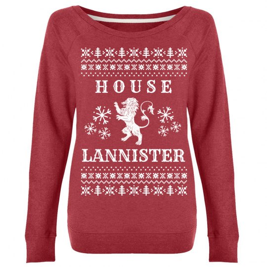 House Lannister Winter Ugly Sweater