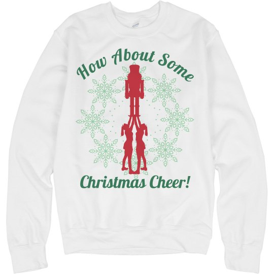 How About Some Christmas Cheer Wordplay Sweater