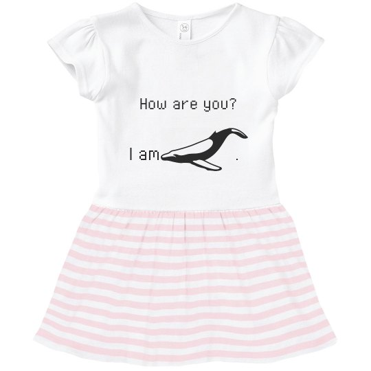how are you?-toddler girl's shirt