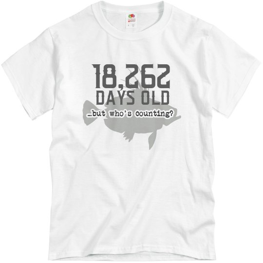 How many days old am I on my 50th birthday t-shirt