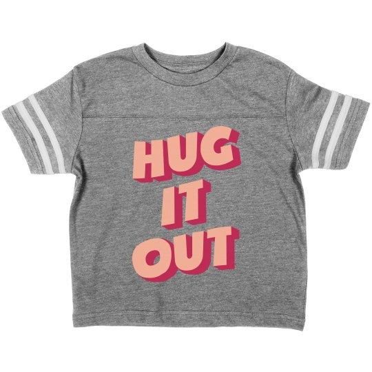 Hug it Out Toddler Valentine's Day Vintage Tee