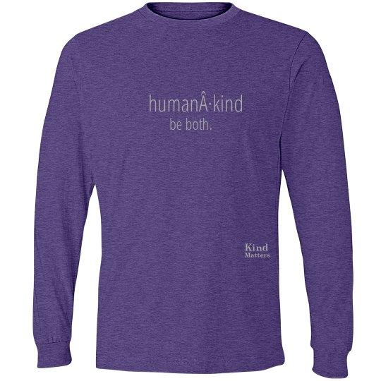 Human·Kind unisex/mens long sleeve tee