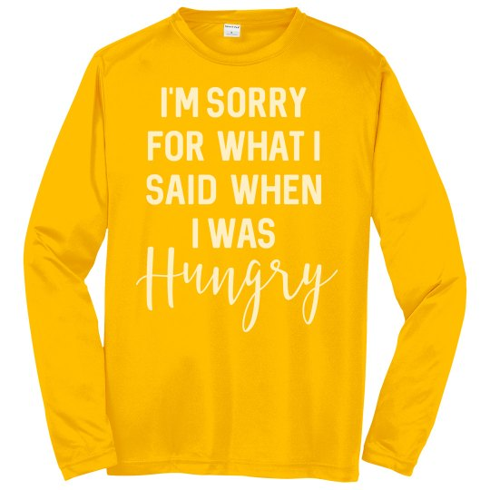 Hungry unisex long sleeves