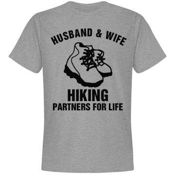 Husband and wife hiking partners for life