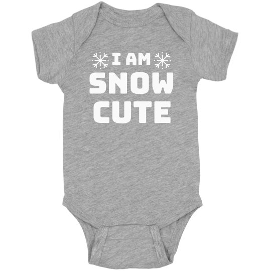 I Am Snow Cute Bodysuit
