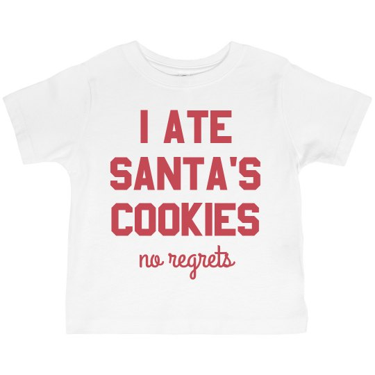 I Ate Santa's Cookies No Regrets T-Shirt