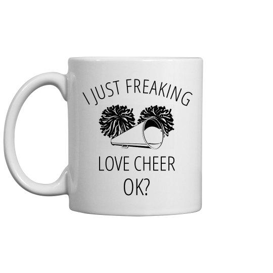 I Freaking Love Cheer Mug