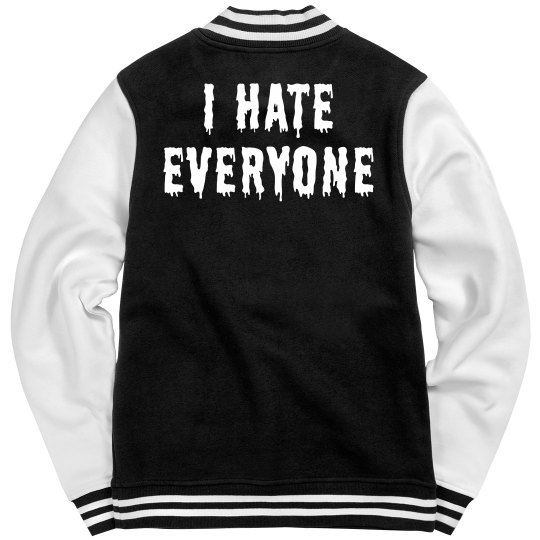 I Hate Trendy Text Bomber Jacket