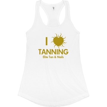 I Heart Tanning Tank