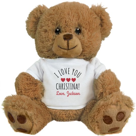 I Love & Miss You Custom Bear Giftable