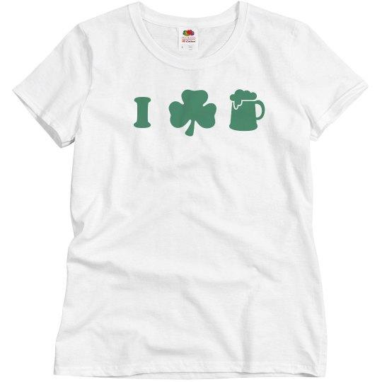I Love Beer St. Patrick's Day