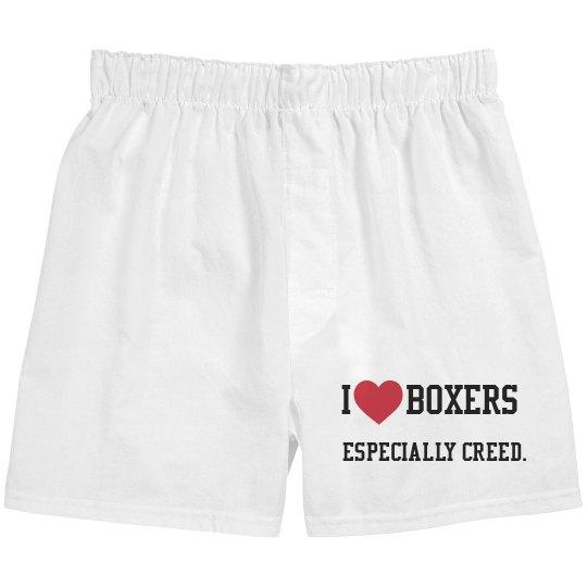 I love Boxers, Especially Creed.