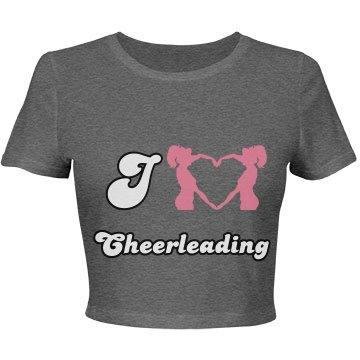I Love Cheerleading Crop