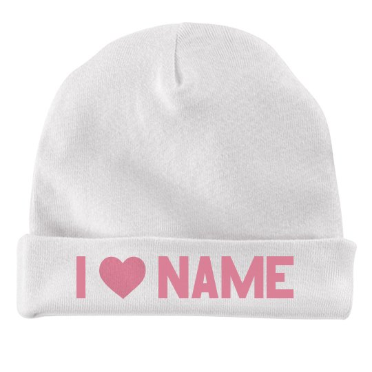 I Love Custom Name Valentine Baby