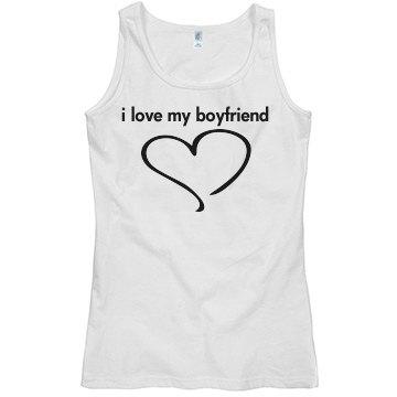 i love my boyfriend tee s