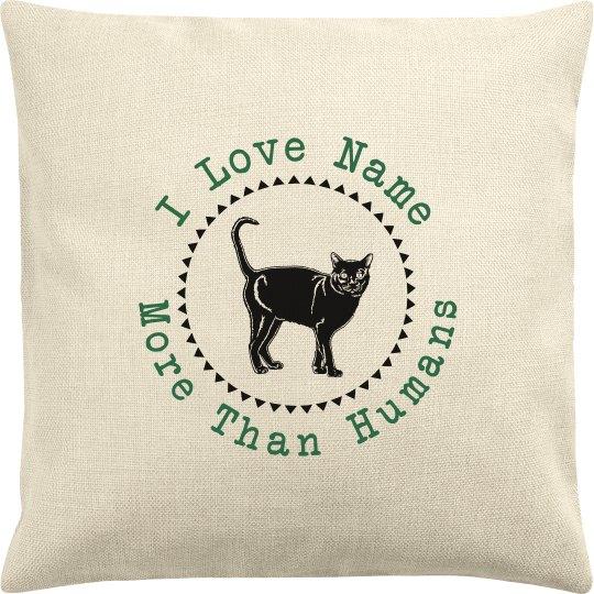 I Love My Cat Custom Pillow Case