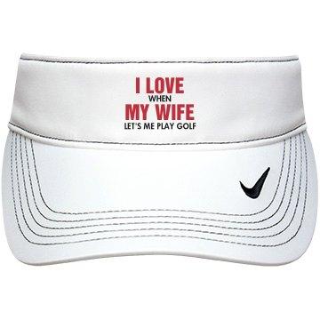 I Love My Wife Golf Gift