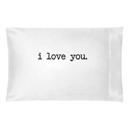 I Love You Pillow Case