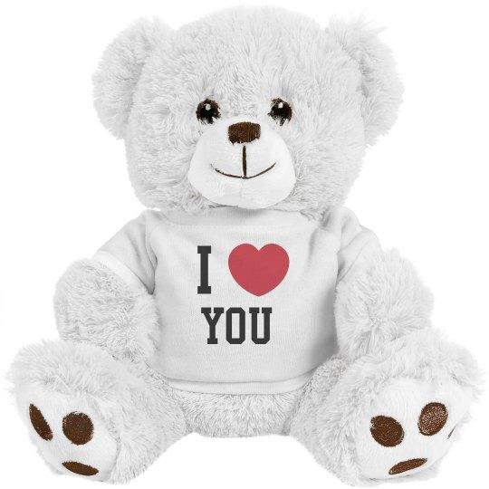 I love you white teddy