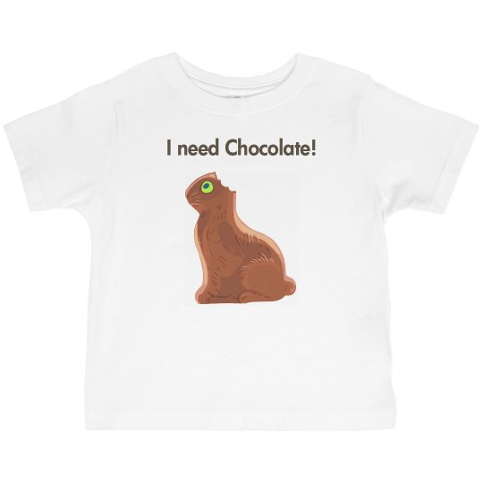 I need chocolate bunny toddler t