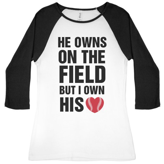 I Own His Heart Baseball