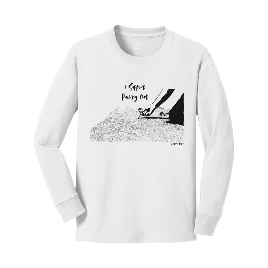 I Support Pulling Out - Youth - Cotton Long Sleeve Tee