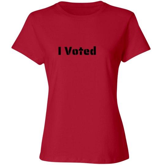 I Voted ladies T
