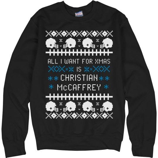 I Want Christian McCaffrey For My Ugly Xmas Sweater
