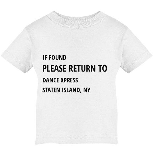 IF FOUND PLEASE RETURN... INFANT
