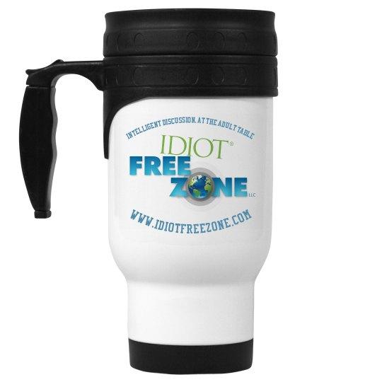 IFZ 14oz White Stainless Steel Travel Mug