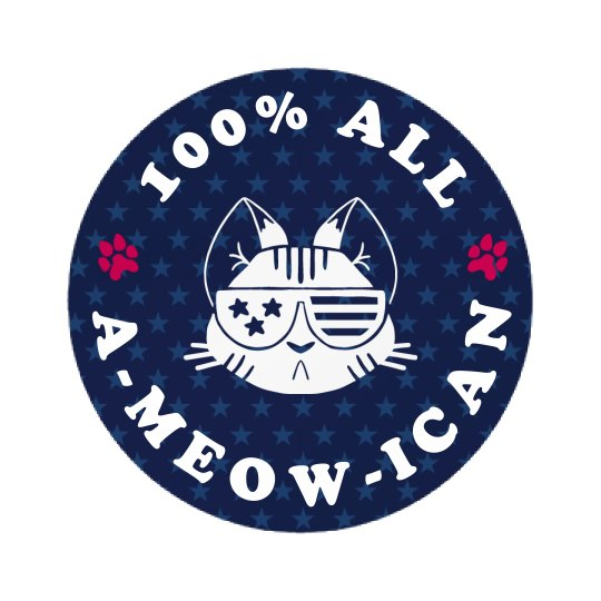 I'm 100% All A-Meow-Ican