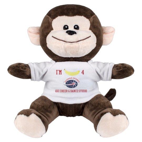 I'm Bananas  4 GSC 8 Inch Monkey Stuffed Animal