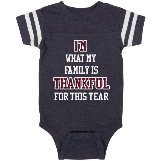I'm Thankful Vintage Onesie