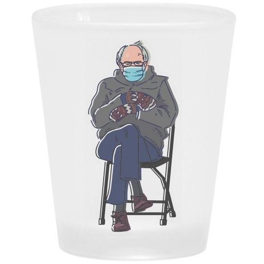 Inauguration Bernie Shot Glass