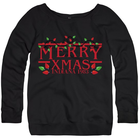 Indiana 1983 Merry Christmas Sweatshirt