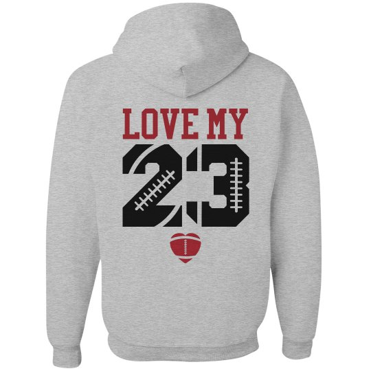 Inexpensive and Cute Football Girlfriend Custom Hoodie