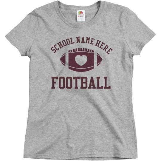 Inexpensive Budget Priced Custom Football Mom Shirt