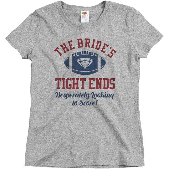 Inexpensive Football Bachelorette Bridesmaid Shirts