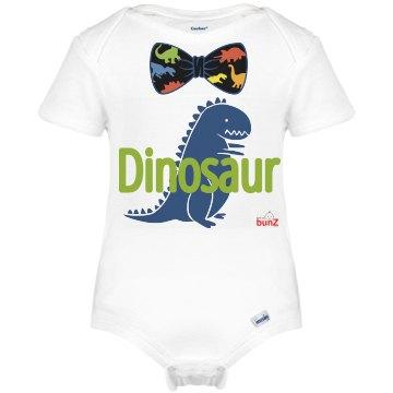 Infant Bowtie Dino Onesie