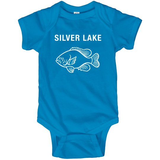 Infant Onsie with Sunfish Silver Lake design