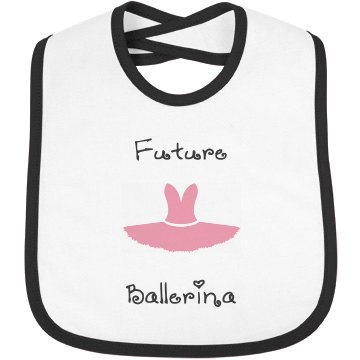 Infant Rabbit Skins Contrast Trim Bib, God Love's You