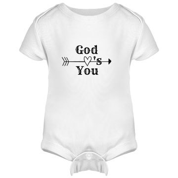 Infant Rabbit Skins Lap Shoulder Creeper God Love's You