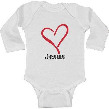 Infant Rabbit Skins Long Sleeve Baby Rib Bodysuit
