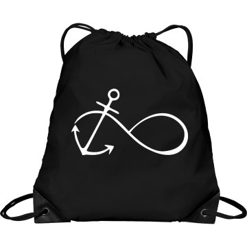 Infinity Anchor Drawstring Bag