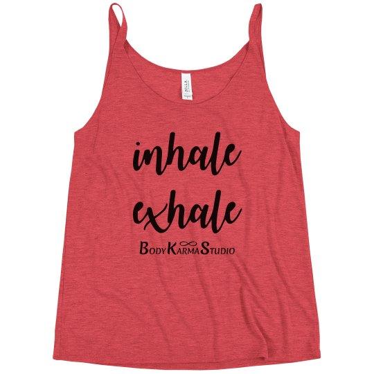 Inhale Exhale Logo Tank