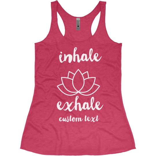 Inhale Exhale Yoga Lotus Tank