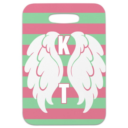 Initials w/ Wings Tag