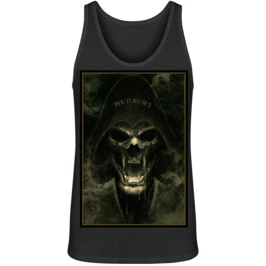 Ink'd Roses Green Skull