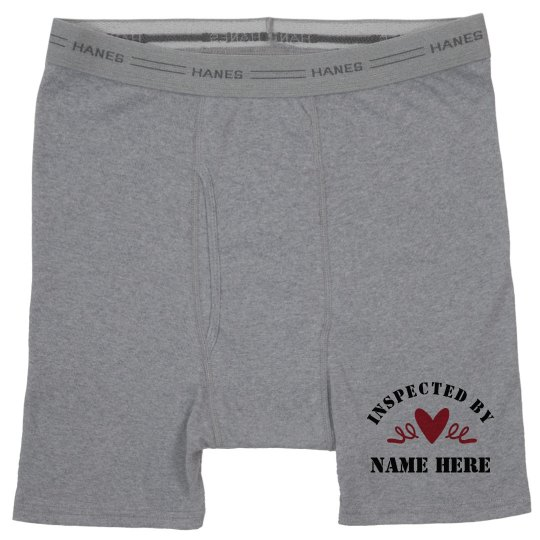 Inspected By Custom Boxer Brief